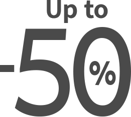 up to -50%