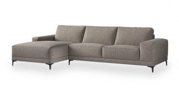 """ספה פינתית ואלרי צד שמאל 310 ס""""מ בגוון אפור סילברדו"""