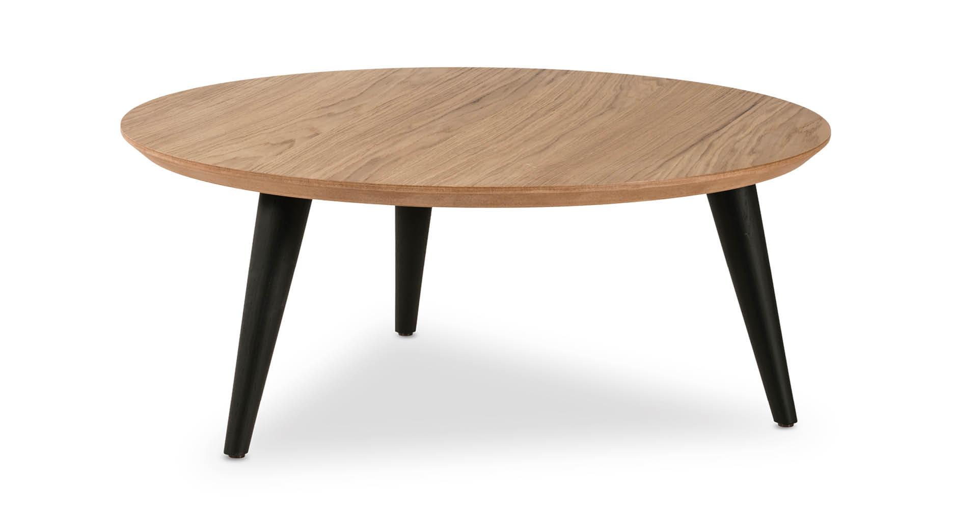 """שולחן סלון רונדו 80 ס""""מ בגוון אלון טבעי"""
