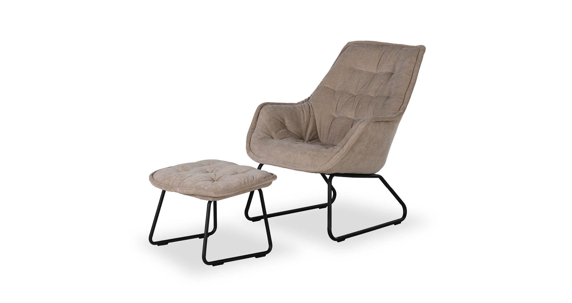 כורסא + הדום לוסי בגוון בז' טופי