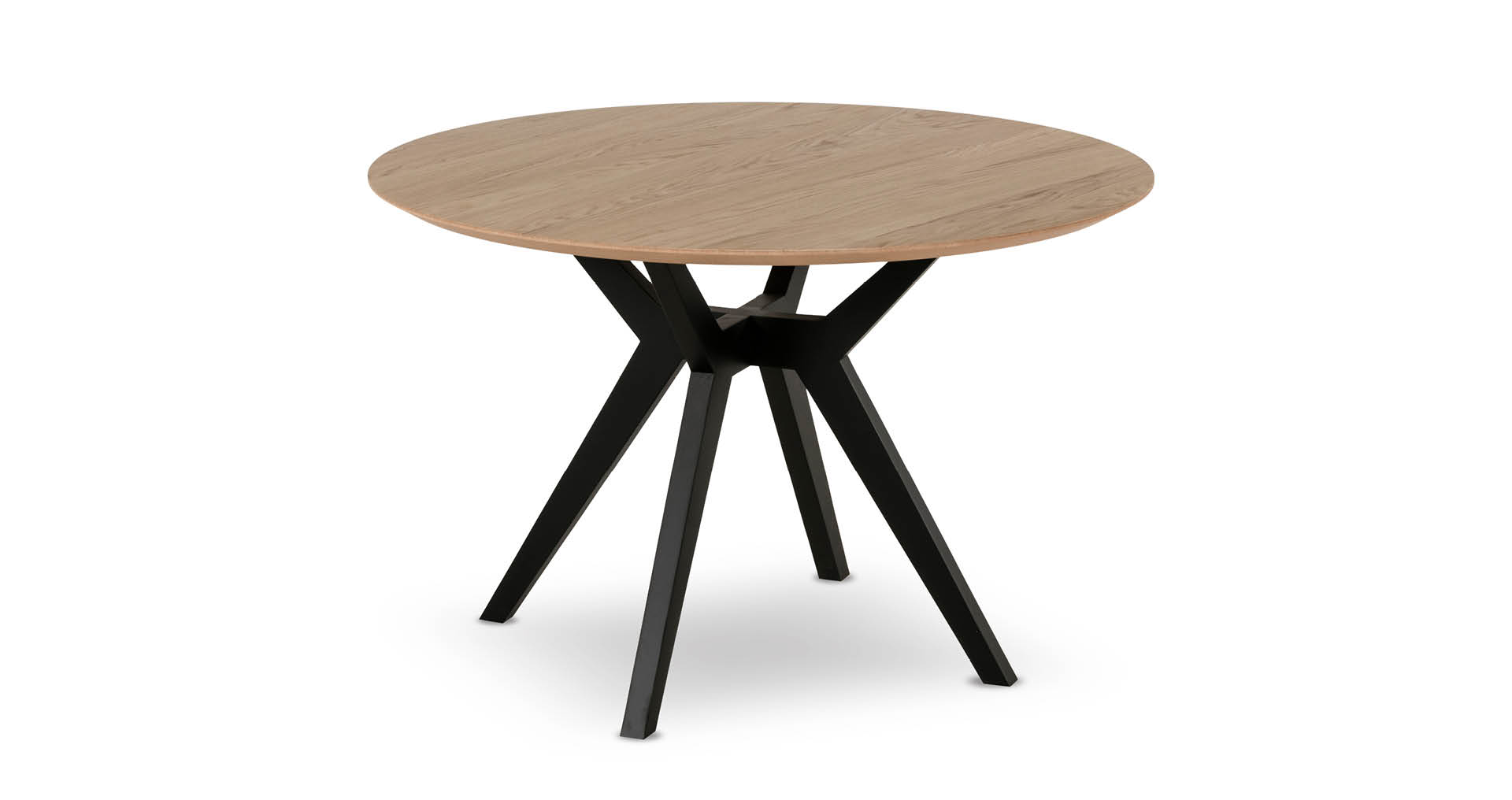 """שולחן אוכל פורטו 120 ס""""מ בגוון אלון טבעי"""