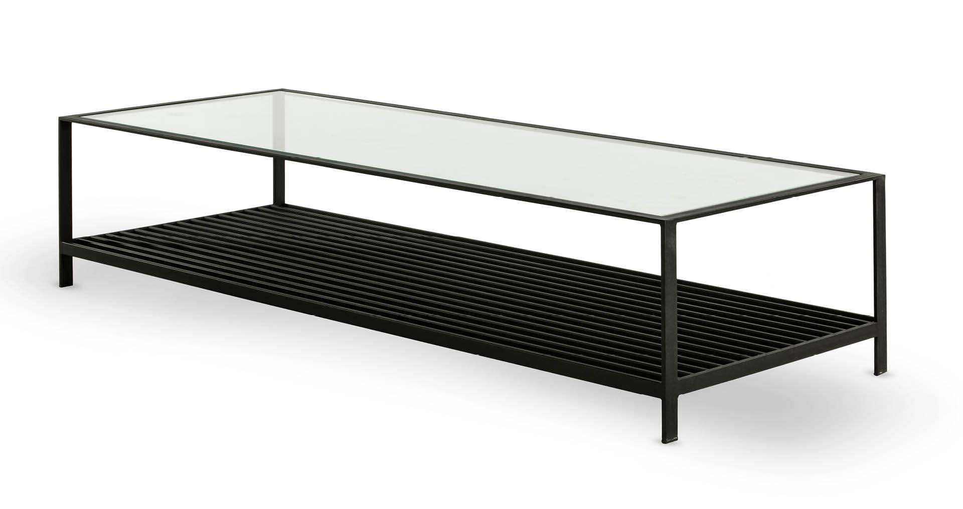 """שולחן סלון קייט 160 ס""""מ בגוון שחור"""