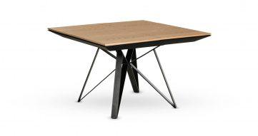 """שולחן אוכל ספיידר נפתח 120 ס""""מ בגוון אלון טבעי"""