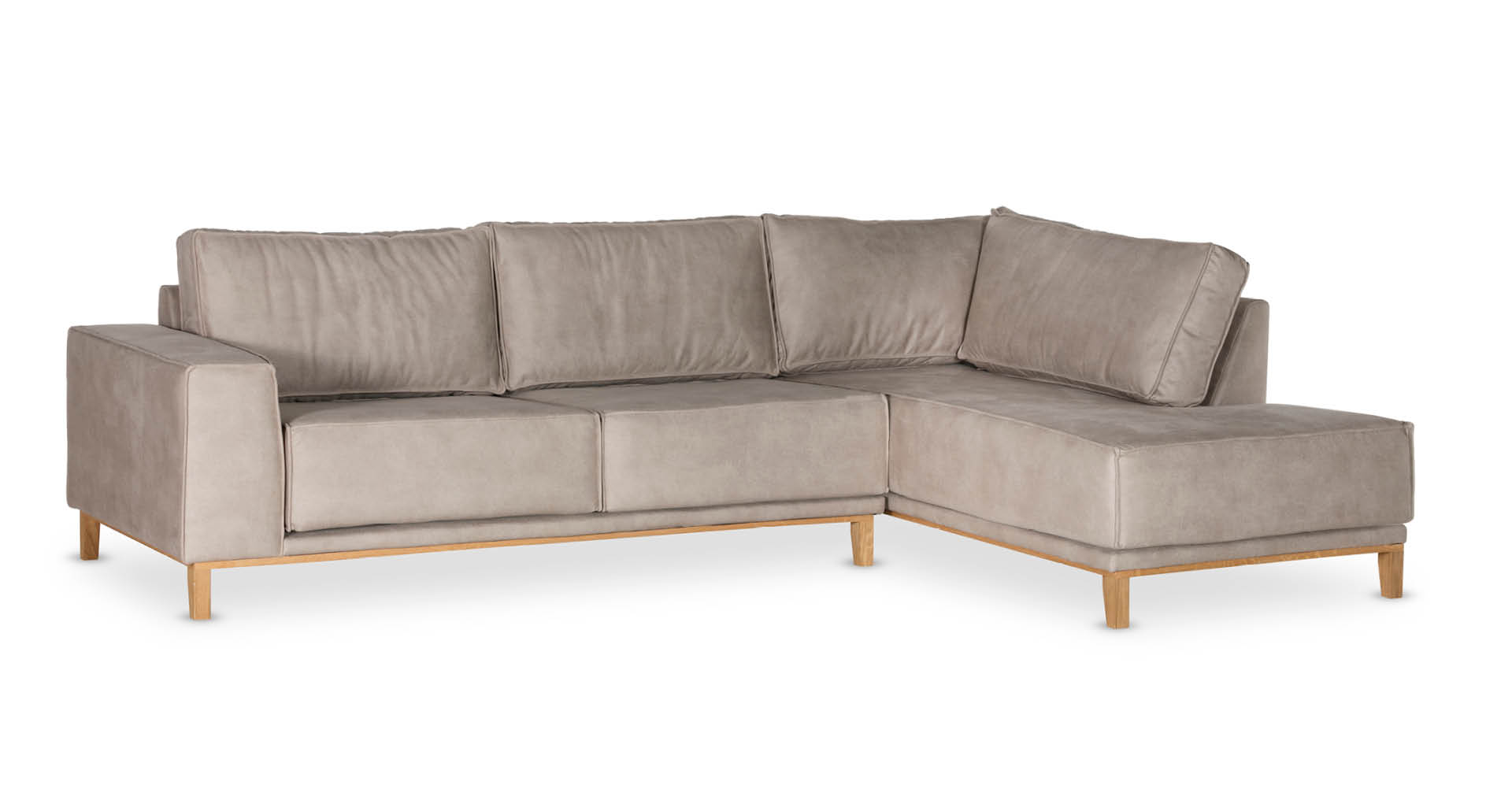 """ספה פינתית ויקלייט צד ימין 300 ס""""מ בגוון אבן כורכר"""
