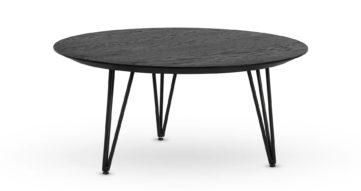 """שולחן סלון חרמון 70 ס""""מ בגוון שחור"""