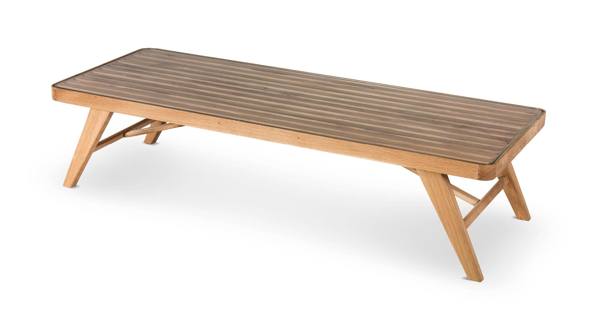 """שולחן סלון אלמונד 160 ס""""מ בגוון אלון טבעי"""