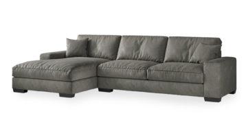 """ספה פינתית טובי צד שמאל 340 ס""""מ בגוון אפור פלדה"""