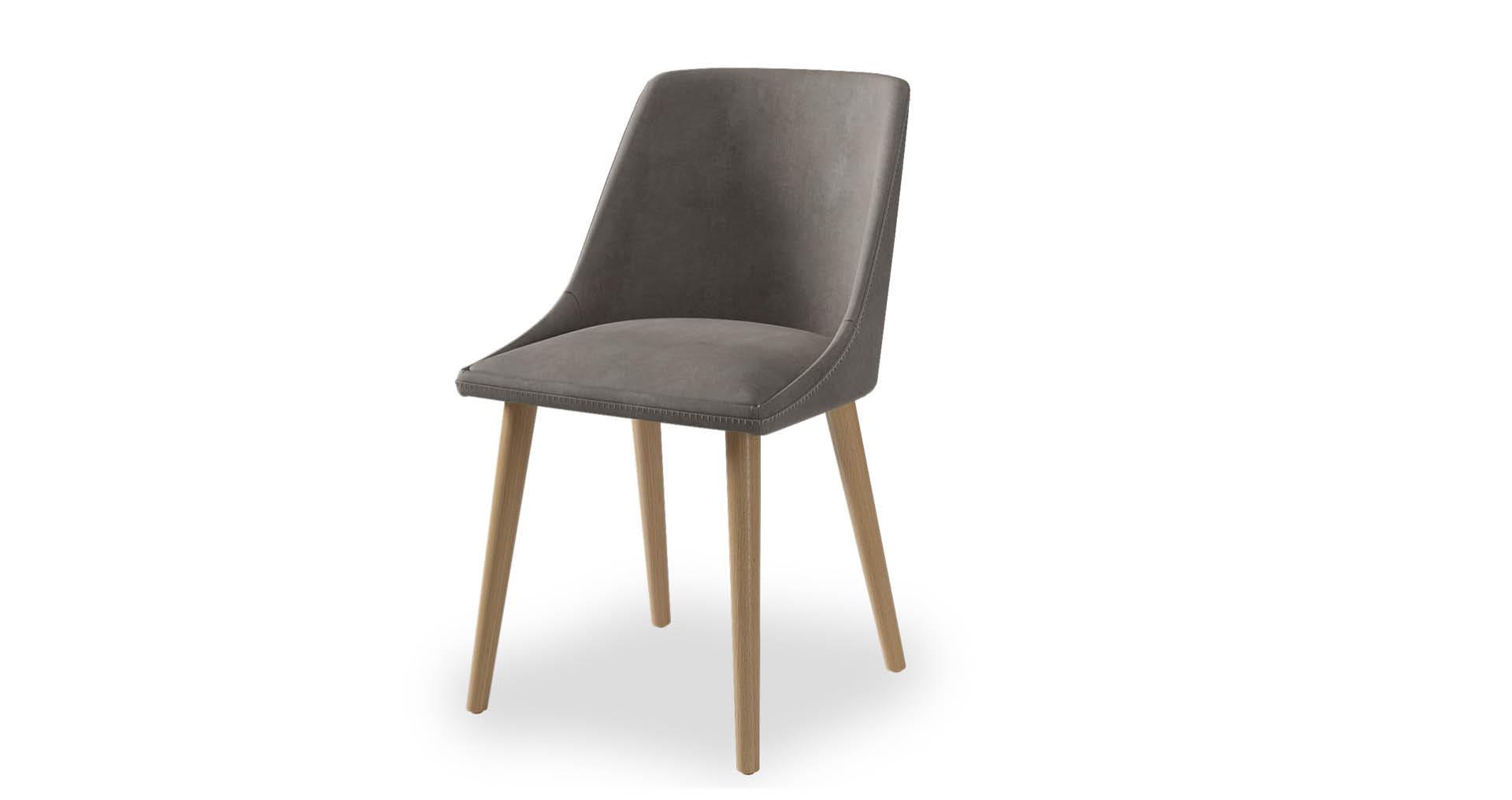 כסא אלברטה בגוון אפור אורבני
