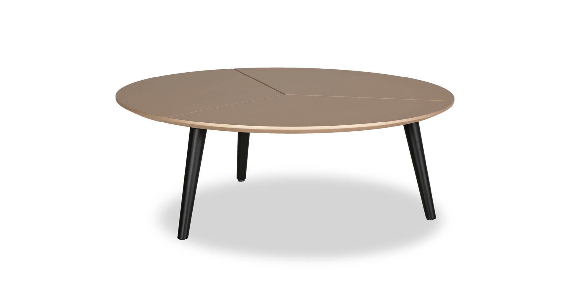 """שולחן סלון קונקרט 85 ס""""מ בגוון רוז גולד"""
