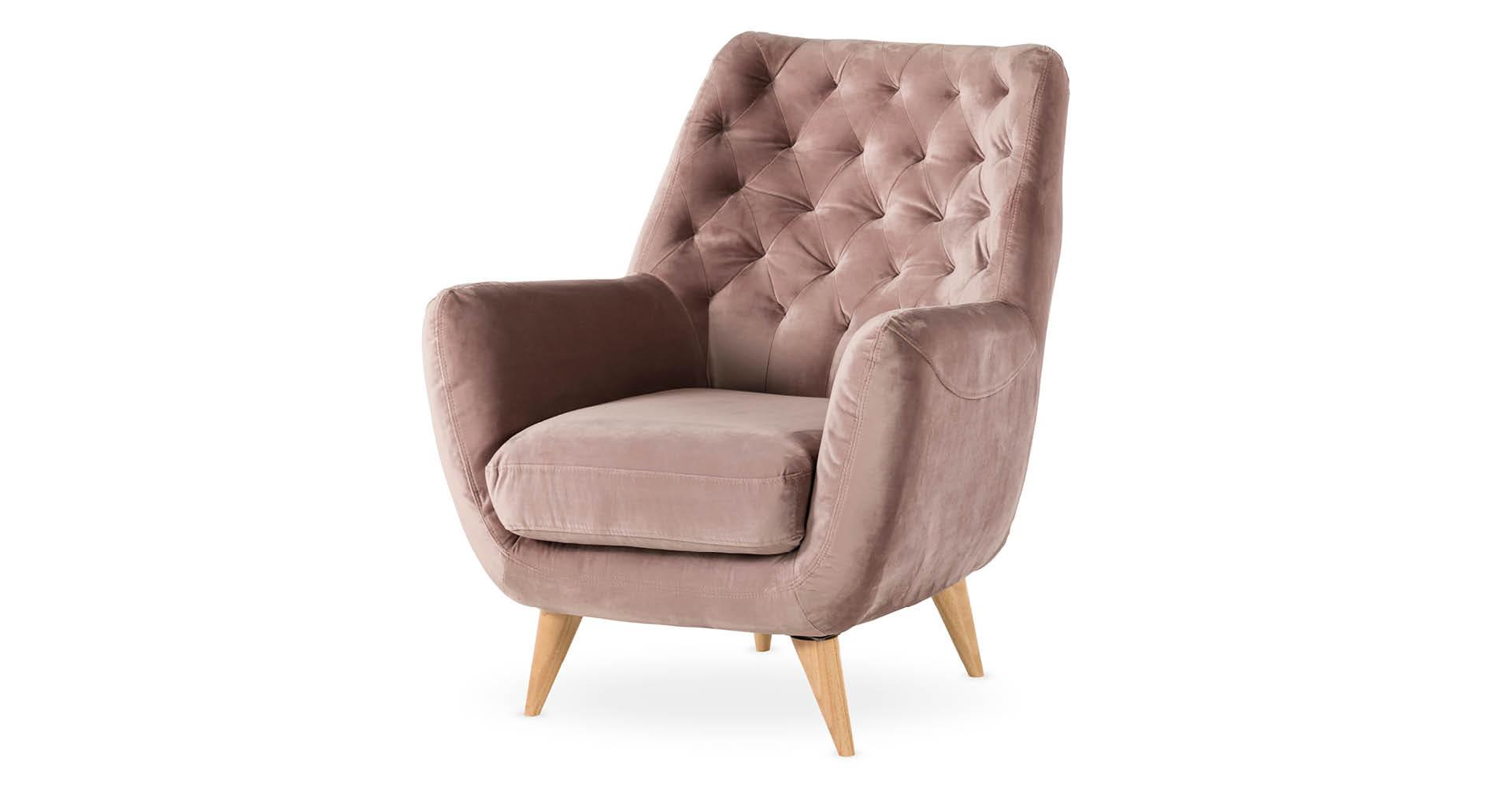 כורסא ברטיל בגוון ורוד מעושן