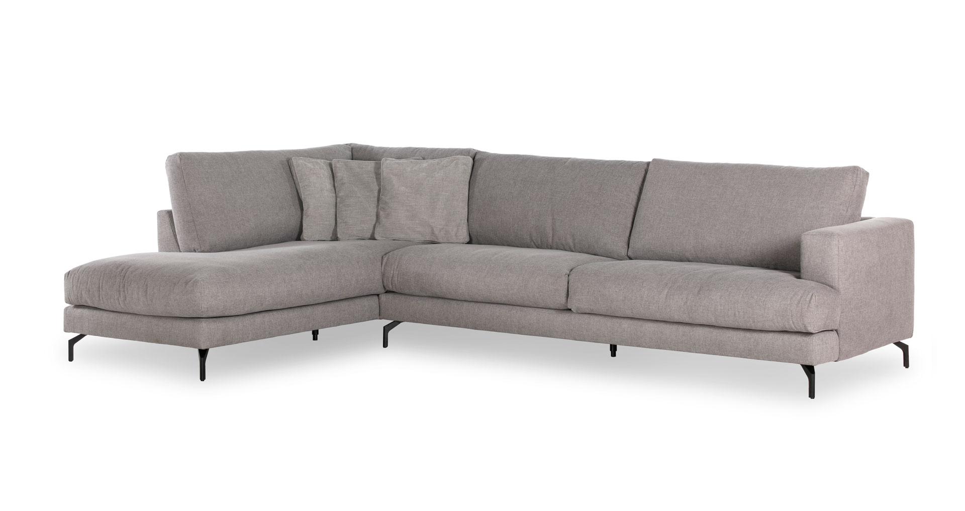"""ספה פינתית לומינור צד שמאל 350 ס""""מ בגוון אפור ארומטי"""
