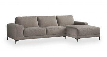 """ספה פינתית ואלרי צד ימין 310 ס""""מ בגוון אפור סילברדו"""