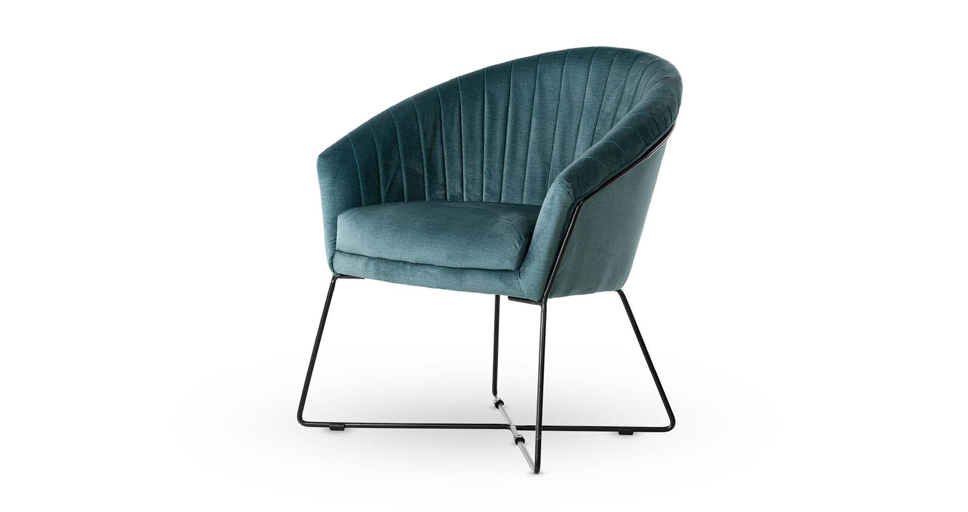 כורסא פליס בגוון כחול פטרול