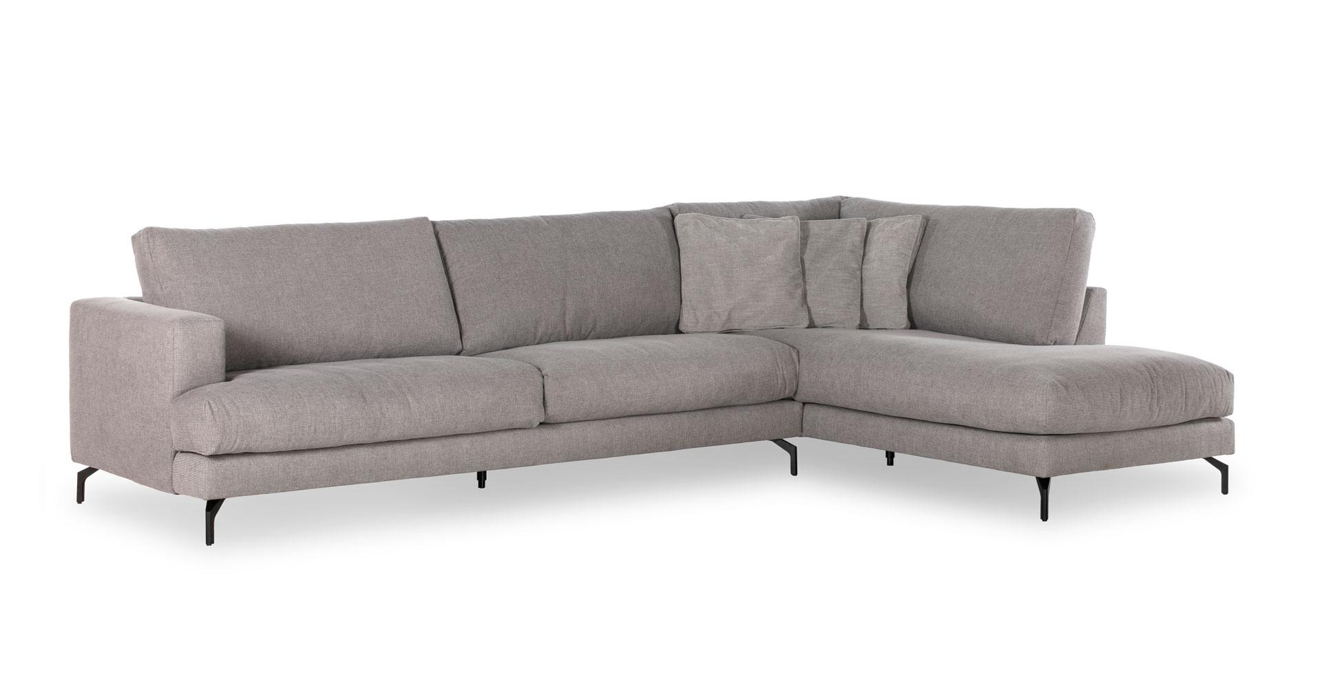 """ספה פינתית לומינור צד ימין 350 ס""""מ בגוון אפור ארומטי"""