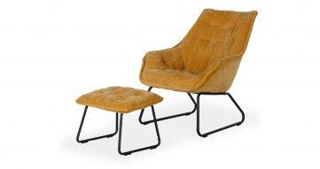 כורסא + הדום לוסי בגוון חרדל סנסט