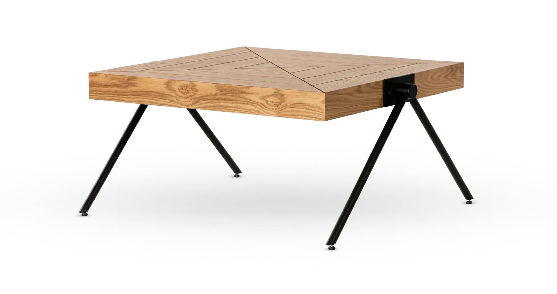 """שולחן סלון טוקיו 70 ס""""מ בגוון אלון טבעי"""