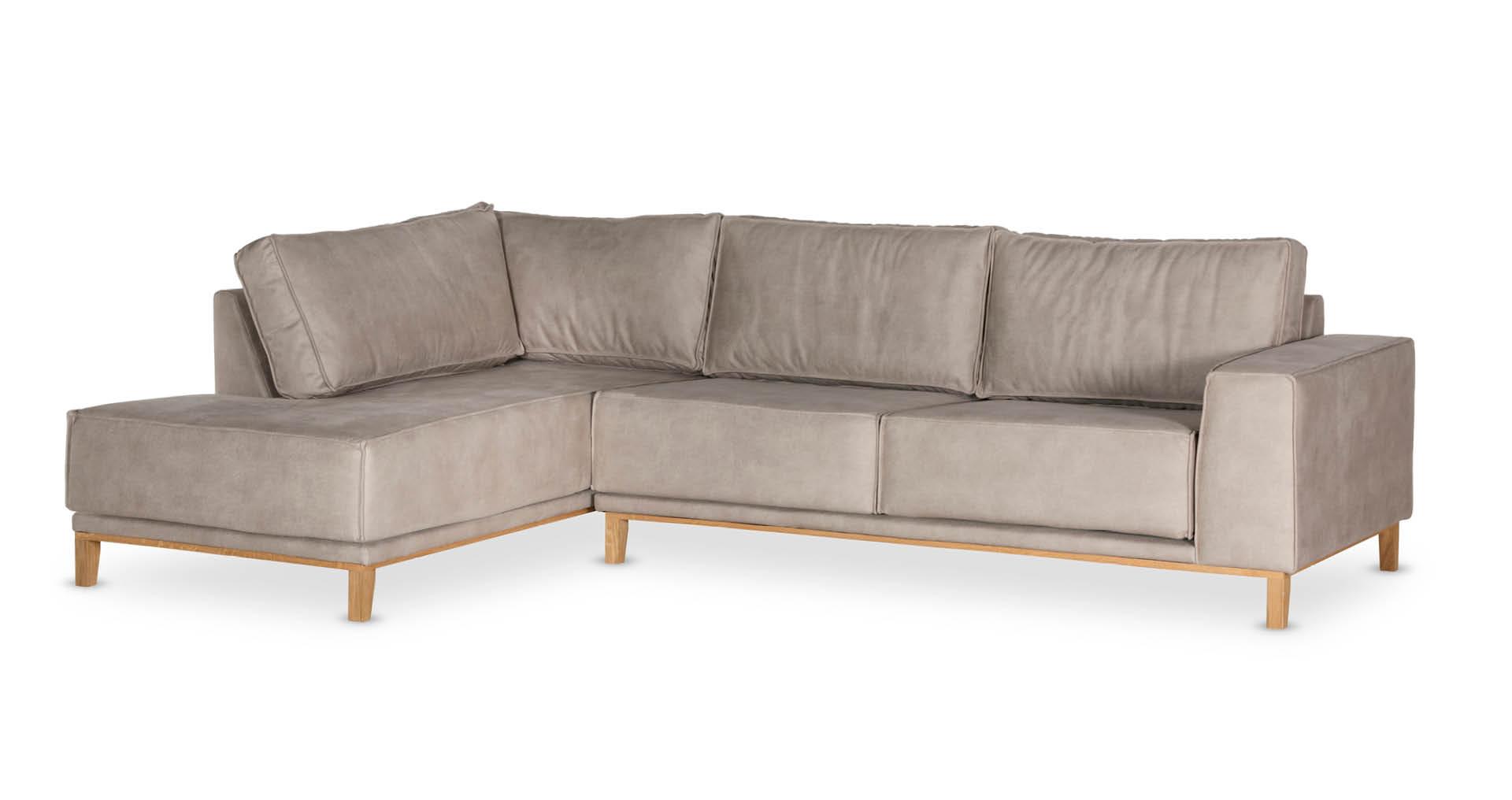 """ספה פינתית ויקלייט צד שמאל 300 ס""""מ בגוון אבן כורכר"""