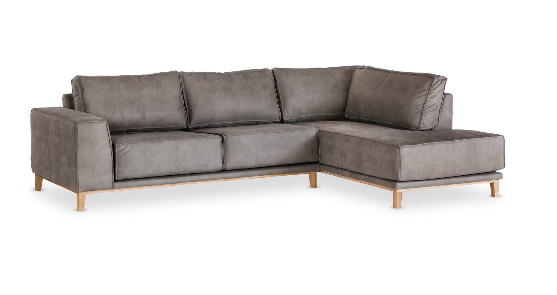 """ספה פינתית ויקלייט צד ימין 300 ס""""מ בגוון אפור מעושן"""