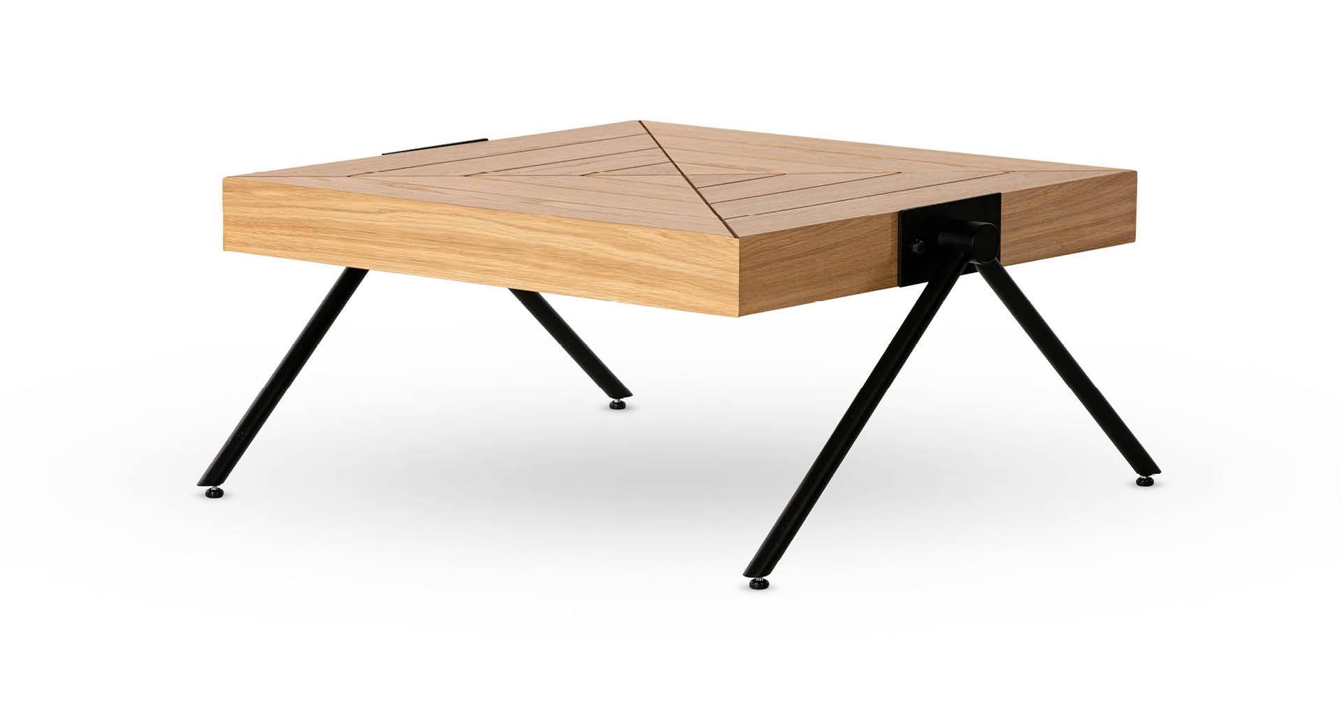 """שולחן סלון טוקיו 60 ס""""מ בגוון אלון טבעי"""