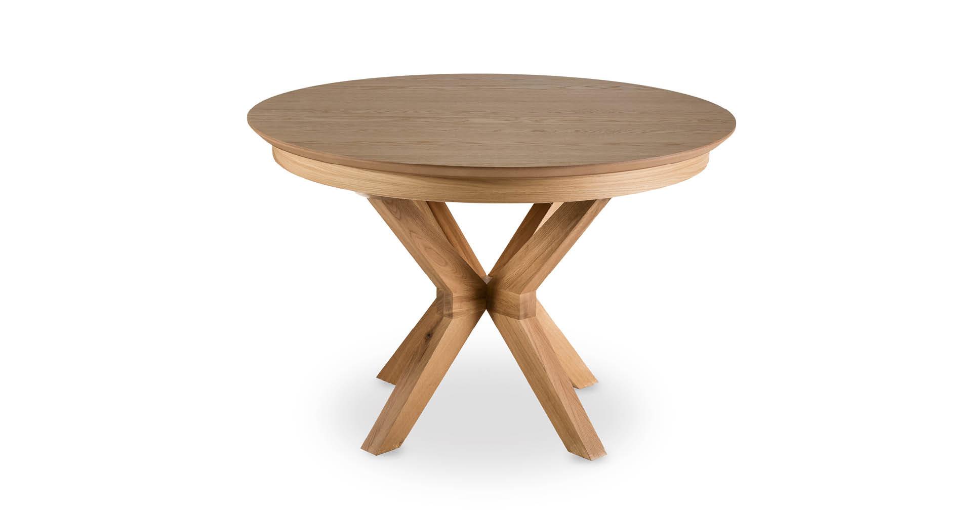 """שולחן אוכל רומא נפתח 120 ס""""מ בגוון אלון טבעי"""