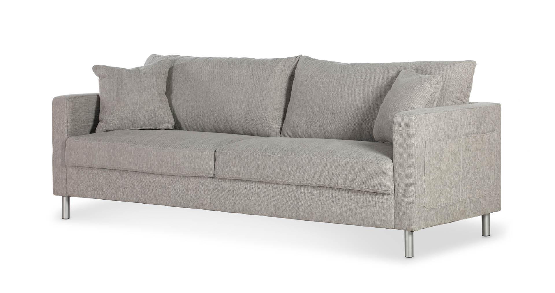 "ספה אניסטון 210 ס""מ בגוון אפור סקנדינבי"