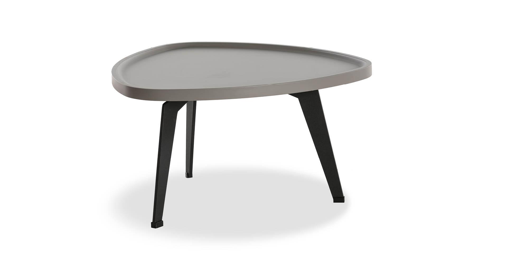 """שולחן סלון רומין 60 ס""""מ בגוון אפור גרייז'"""