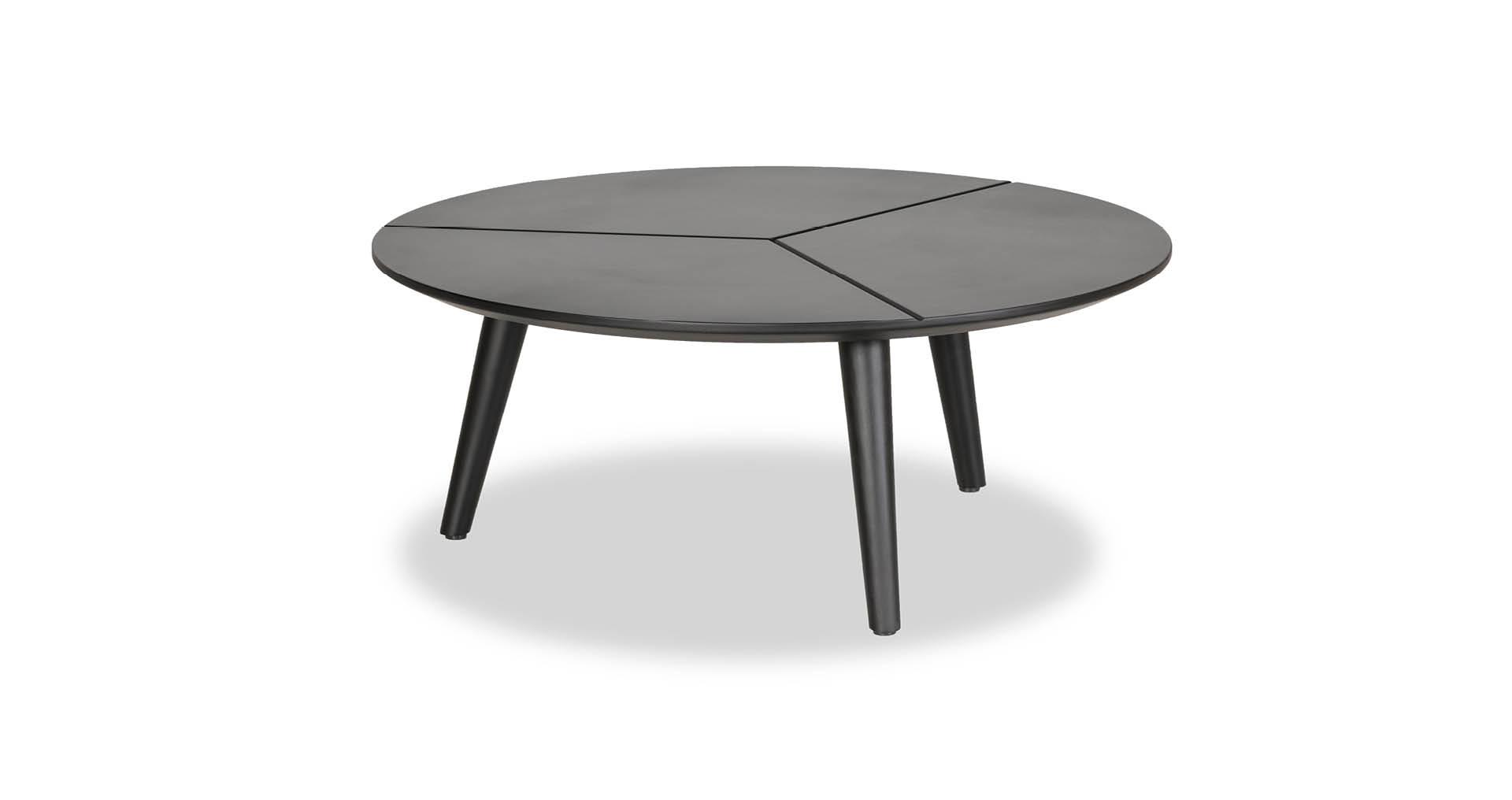 """שולחן סלון קונקרט 65 ס""""מ בגוון שחור משי"""