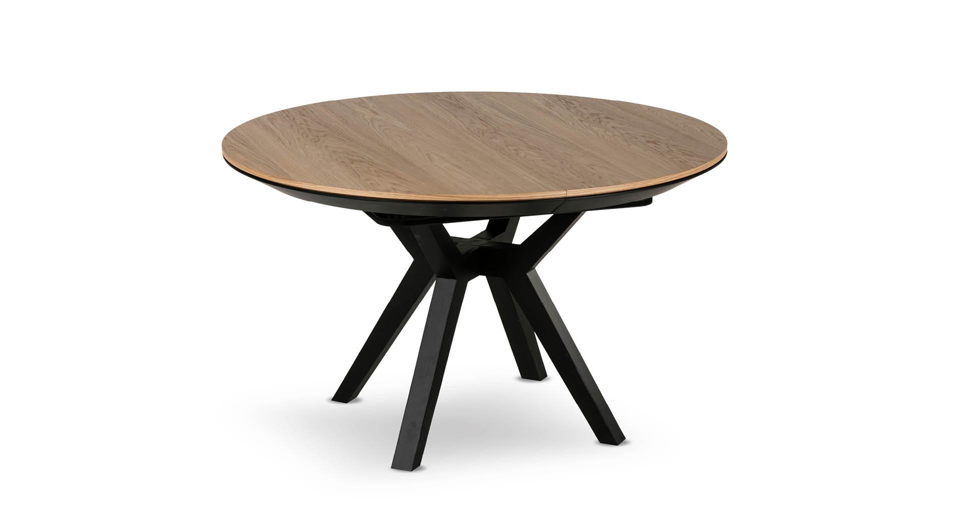 """שולחן אוכל ליסבון נפתח 130 ס""""מ בגוון אלון טבעי"""