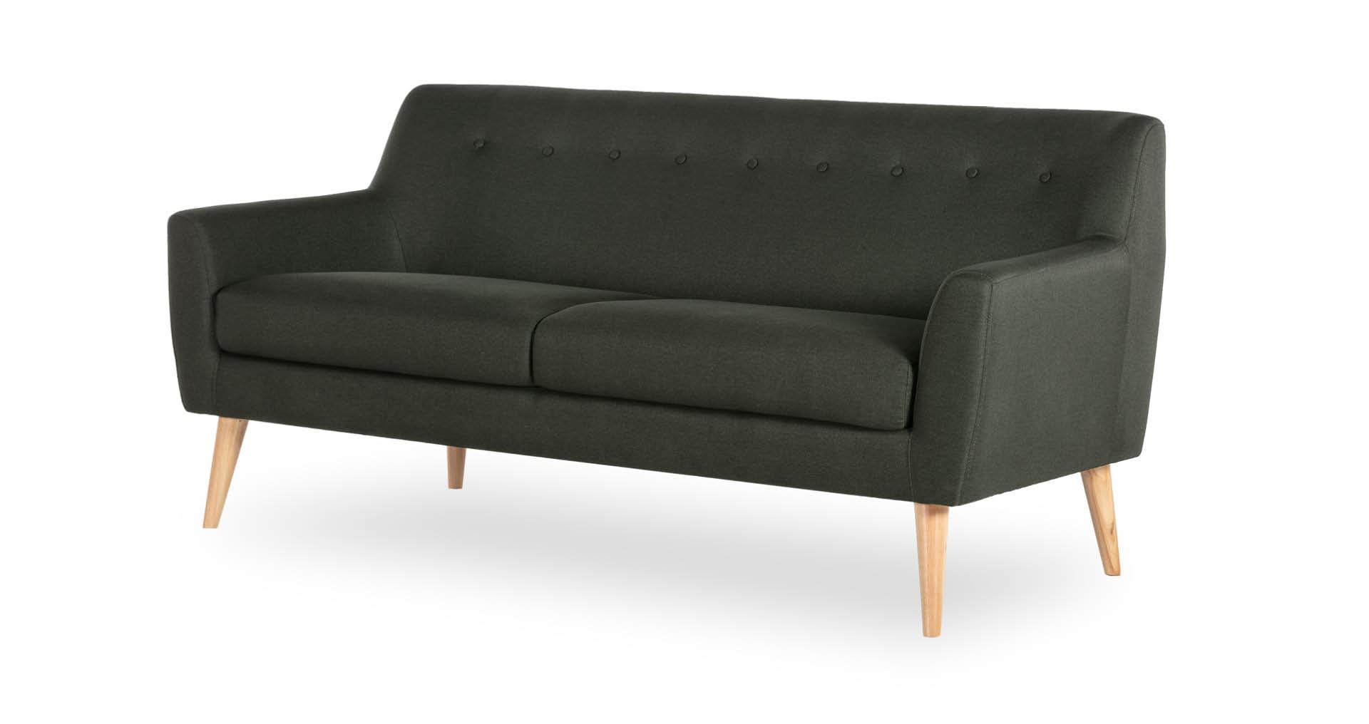 """ספה ויטה 181 ס""""מ בגוון ירוק קיסוס"""