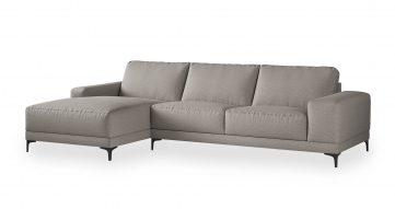 """ספה פינתית ואלרי צד שמאל 310 ס""""מ בגוון גרייז' אויסטר"""