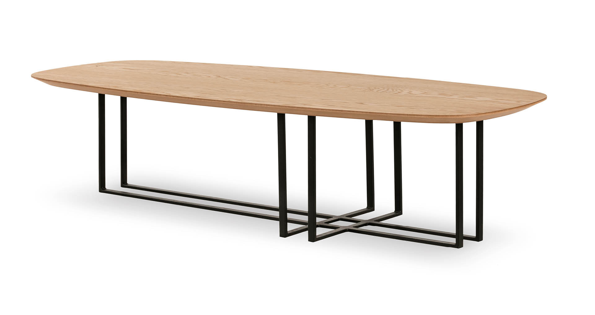 """שולחן סלון בוסטון 150 ס""""מ בגוון אלון טבעי"""