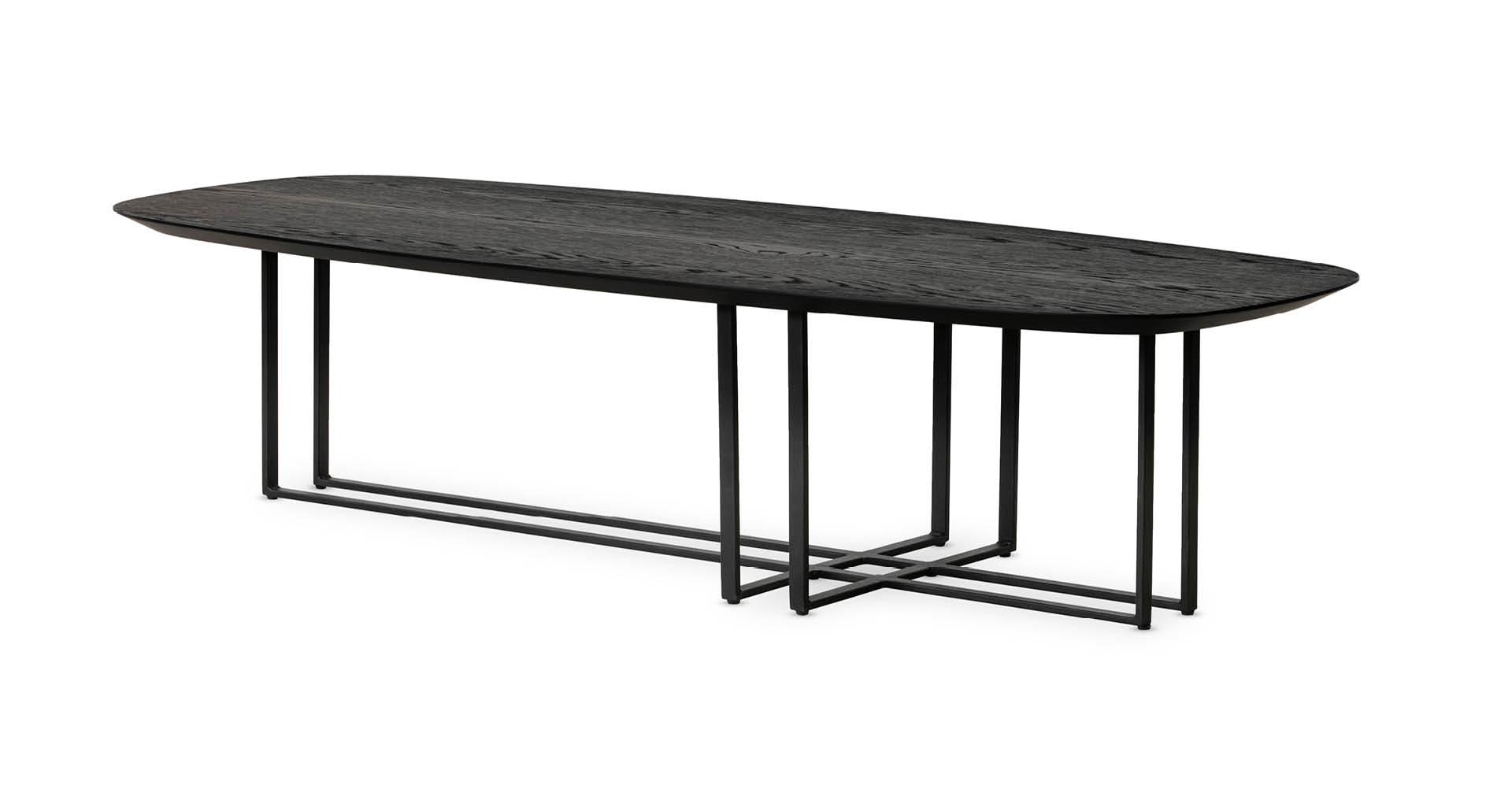 """שולחן סלון בוסטון 150 ס""""מ בגוון שחור"""