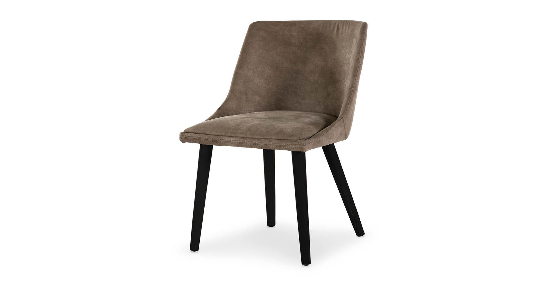 כסא אלברטה רגל שחורה בגוון פקאן