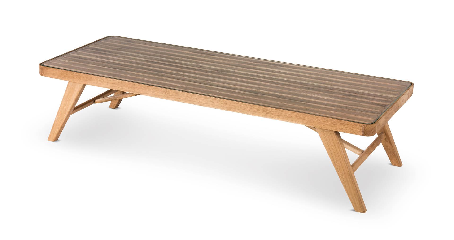"""שולחן סלון אלמונד 120 ס""""מ בגוון אלון טבעי"""