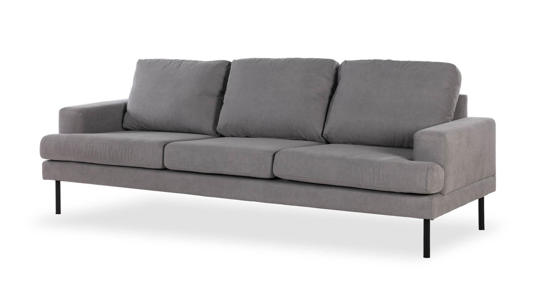"""ספה נוטינגהאם 231 ס""""מ בגוון אפור נורדי"""