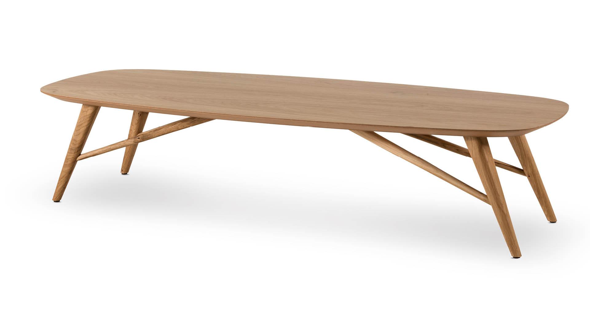 """שולחן סלון צ'רצ'יל 150 ס""""מ בגוון אלון טבעי"""