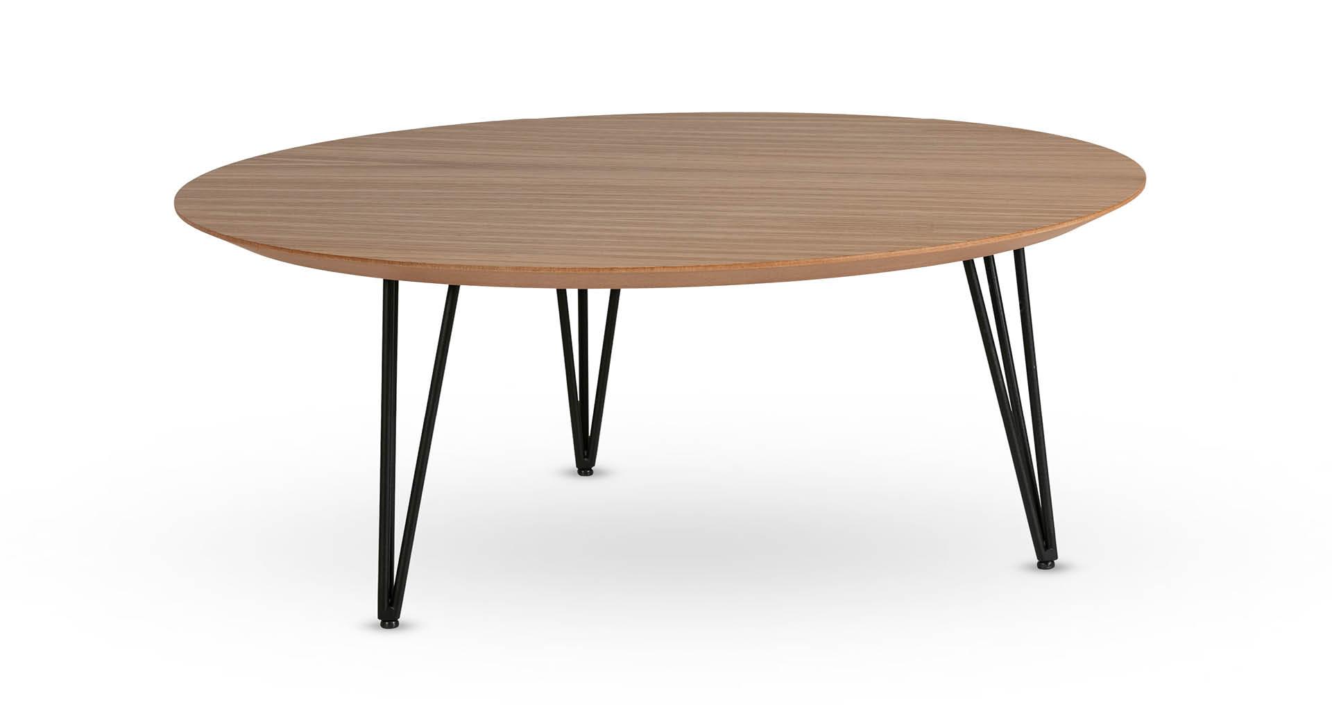 """שולחן סלון חרמון 90 ס""""מ בגוון אלון טבעי"""