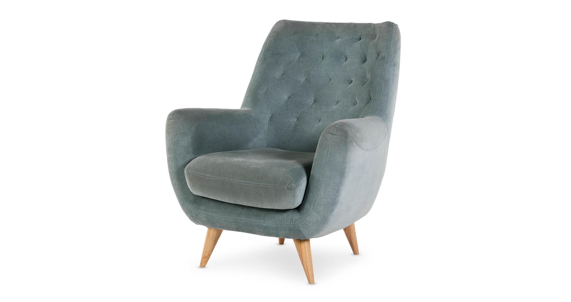 כורסא ברטיל בגוון תכלת אקווה