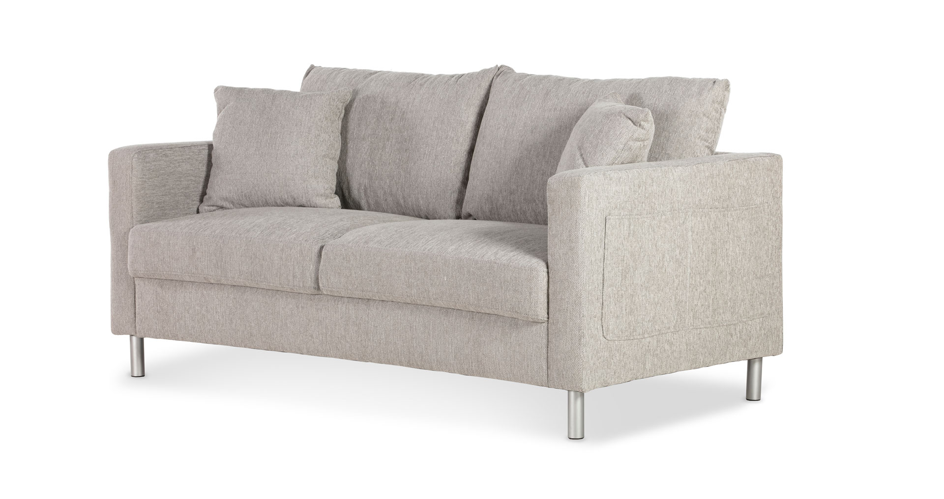 "ספה אניסטון 165 ס""מ בגוון אפור סקנדינבי"