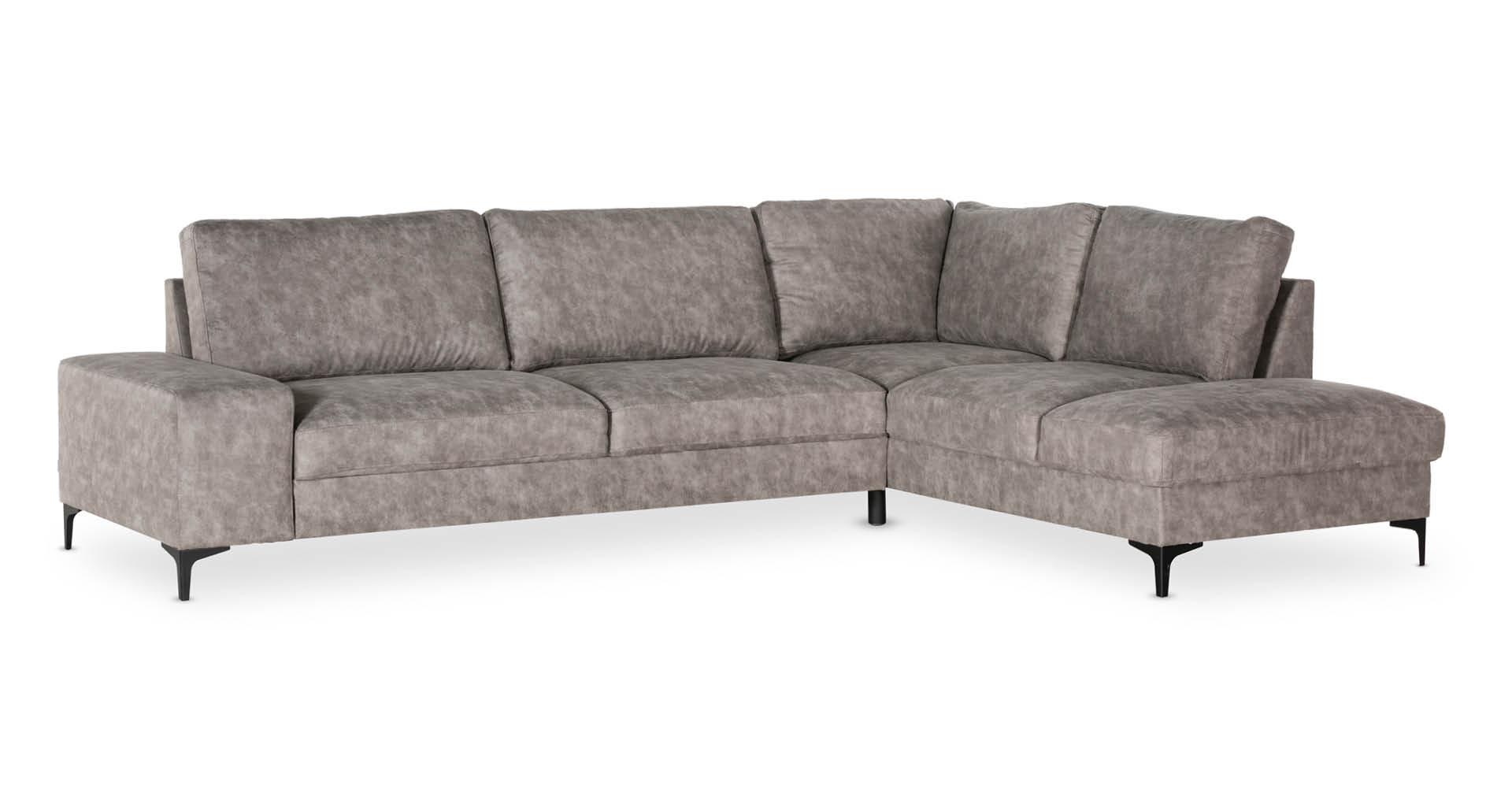 """ספה פינתית פלאביו צד ימין 300 ס""""מ בגוון אפור קלאודי"""