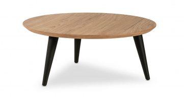 """שולחן סלון רונדו 60 ס""""מ בגוון אלון טבעי"""