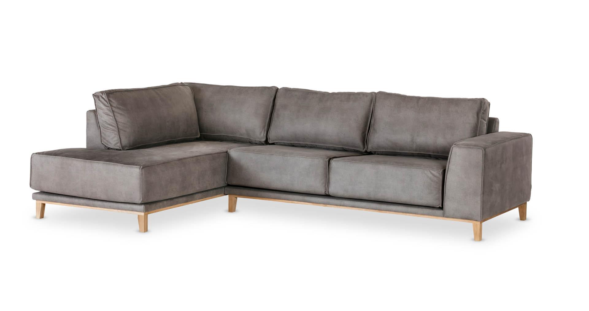 """ספה פינתית ויקלייט צד שמאל 300 ס""""מ בגוון אפור מעושן"""