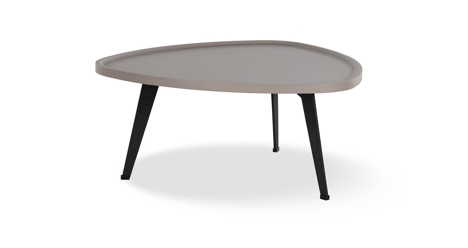 """שולחן סלון רומין 80 ס""""מ בגוון גרייז' קליי"""
