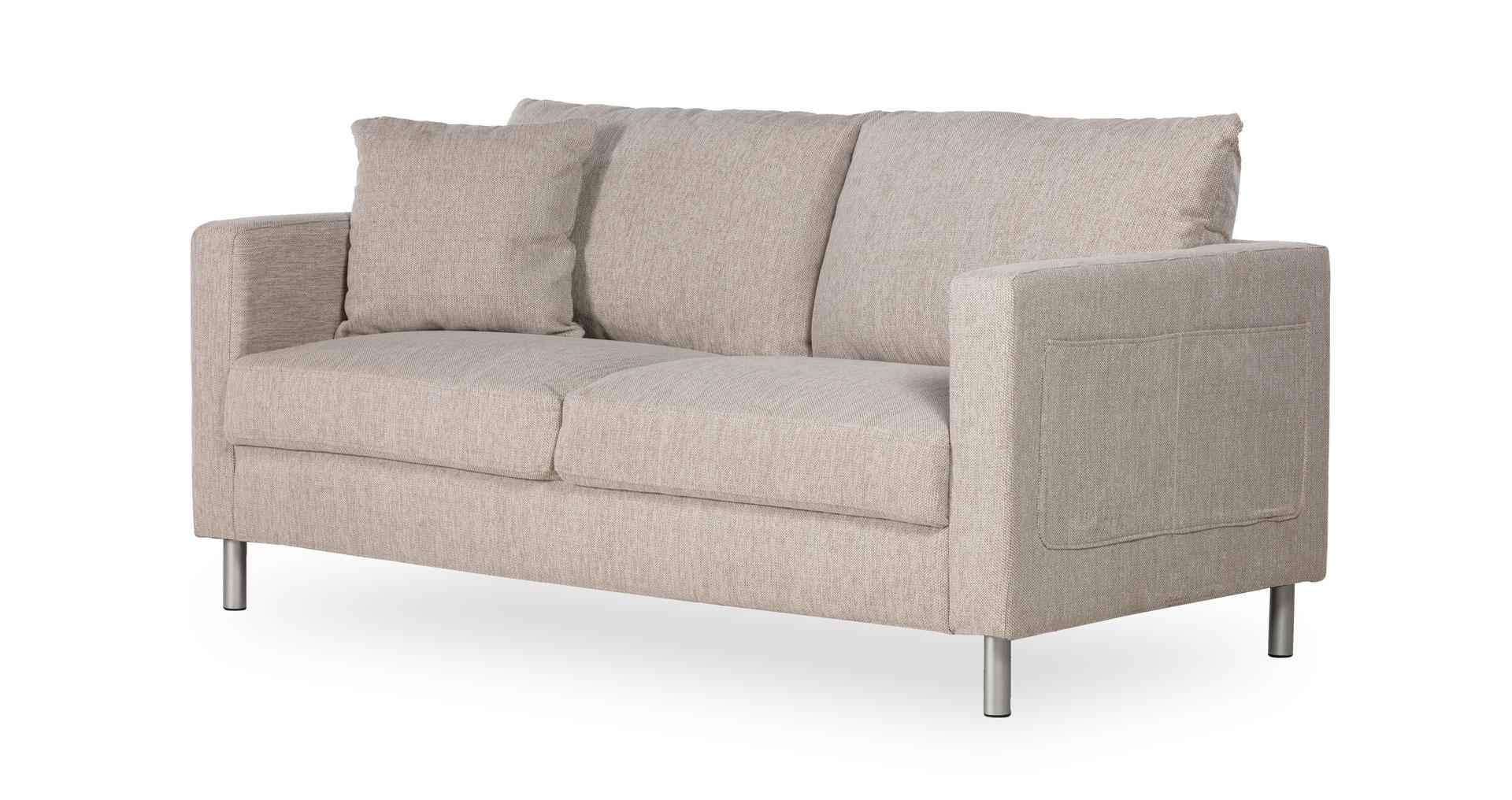 """ספה אניסטון 165 ס""""מ בגוון בז' דיונה"""