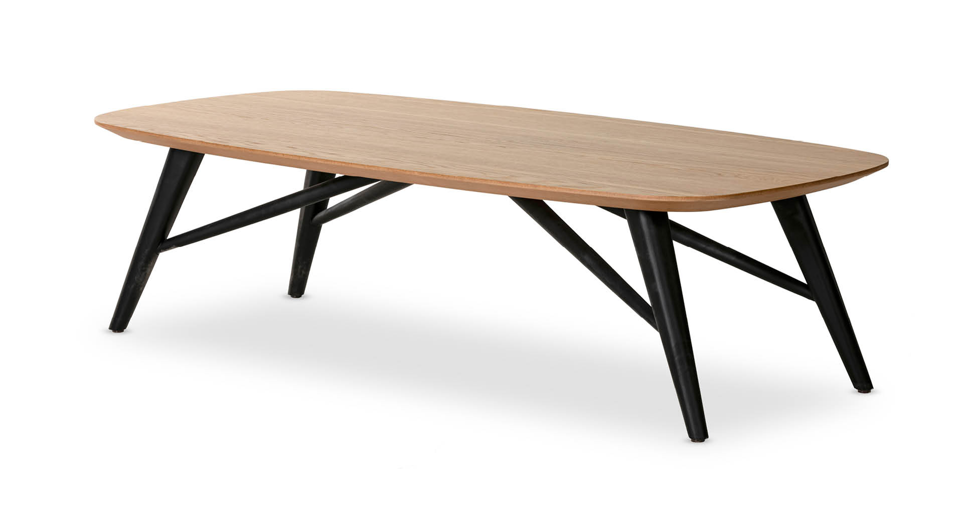 """שולחן סלון צ'רצ'יל 120 ס""""מ בגוון אלון טבעי"""