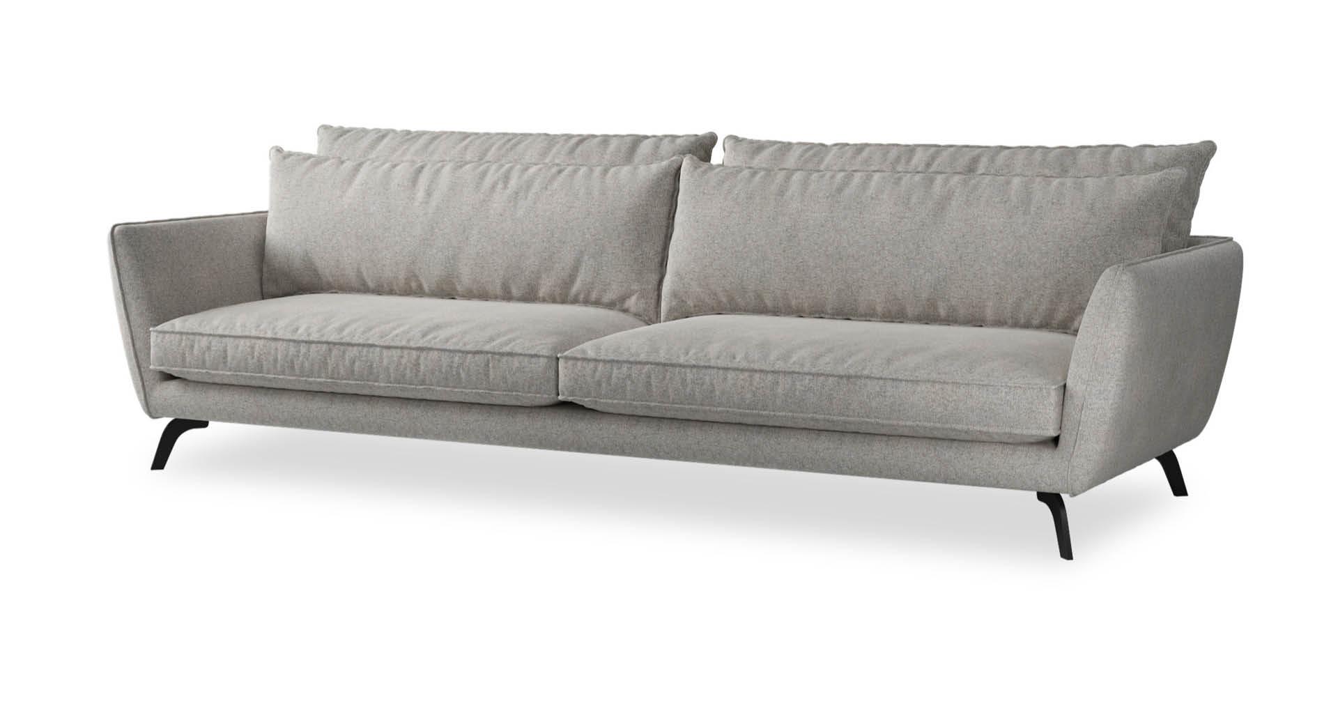 """ספה לאונה 295 ס""""מ בגוון גרייז' פורטובלו"""