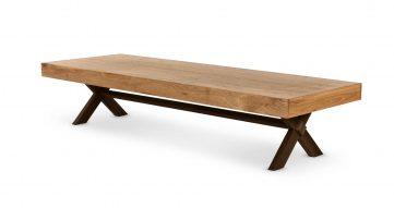 """שולחן סלון סנגל 160 ס""""מ בגוון שולחן סלון"""