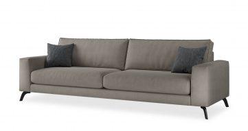 """ספה אתנה 295 ס""""מ בגוון אפור טודרה"""