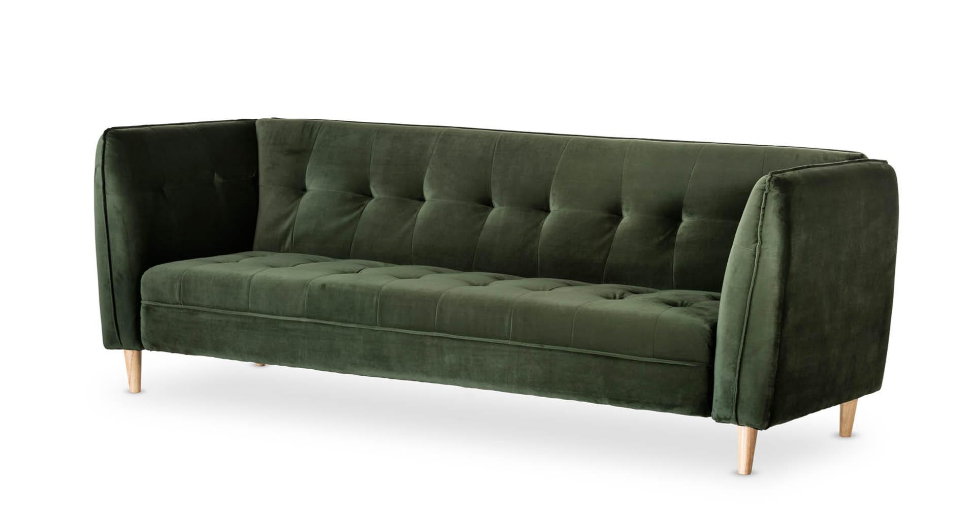 """ספה מיטה יונה 235 ס""""מ בגוון ירוק יער"""