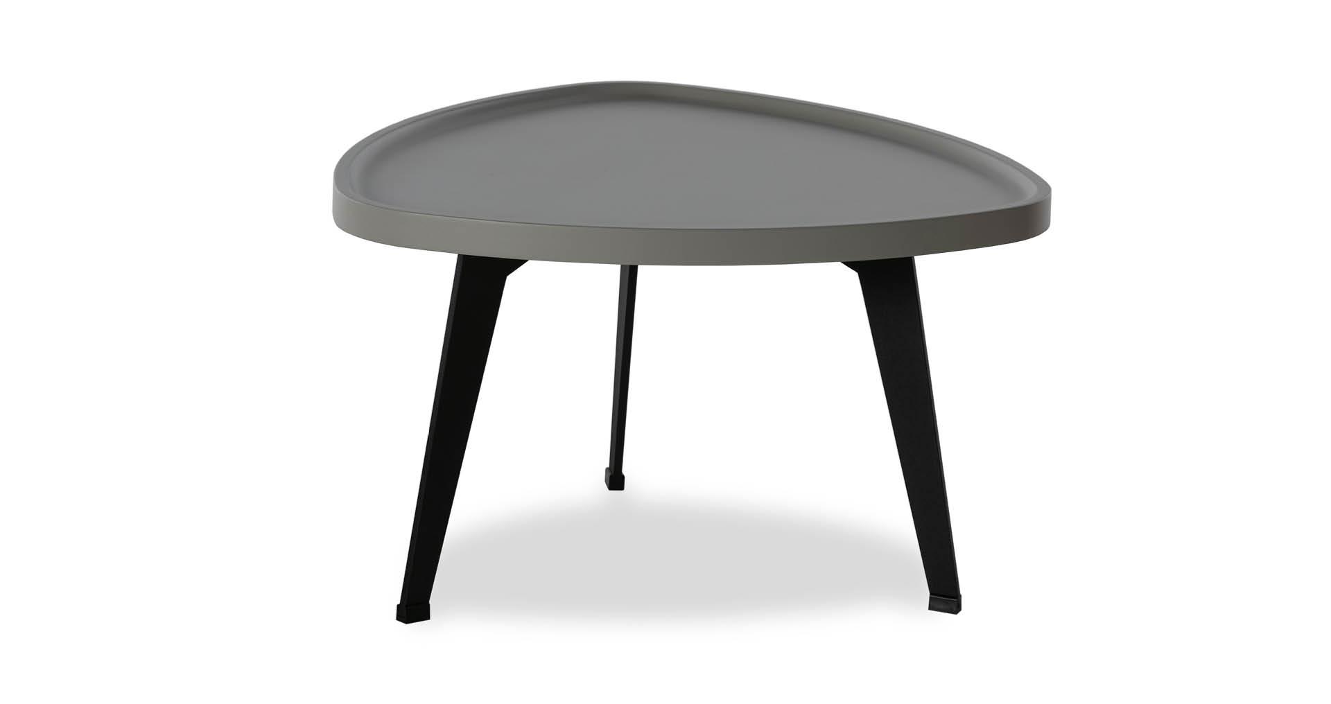 """שולחן סלון רומין 60 ס""""מ בגוון בטון אפרפר"""